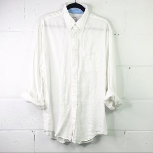 Brooks Brothers 100% linen button down shirt